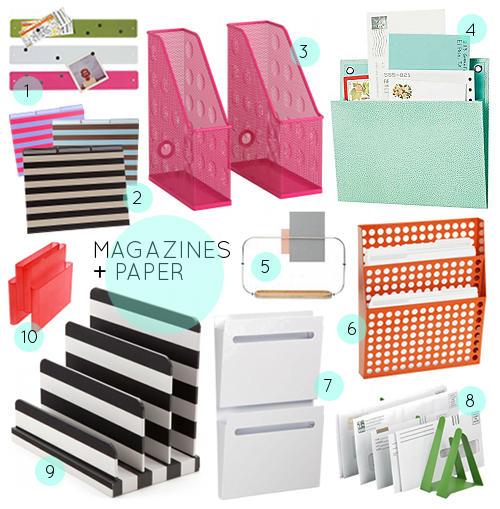 Organizing Tools For The Home Office Via Design Sponge