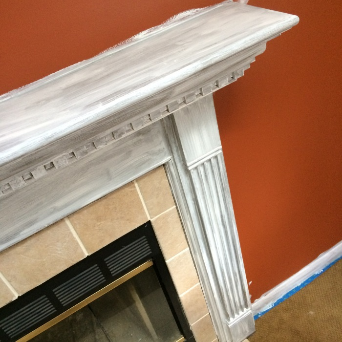 Valspar New Ream V148 in a semi-gloss finish for the fireplace