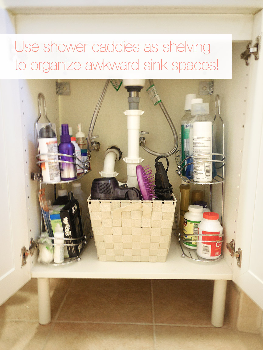 15 organizational ideas for the bathroom for Bathroom shelving ideas for small spaces