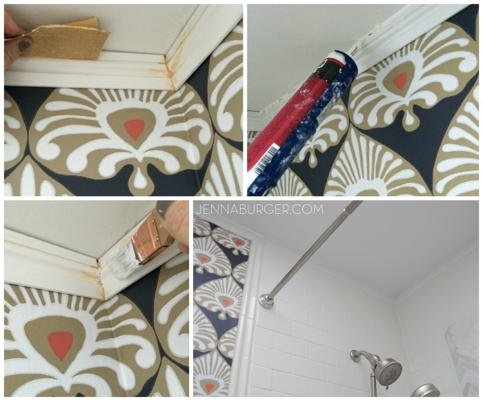 Installing Moulding in the Bathroom