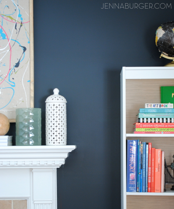 Black is bold.  Black is neutral.  HOW TO MAKE BLACK WALLS WORK in every space of the home. I chose Valspar Black Heron for the living room fireplace wall and the color is a soft charcoal black! More @ www.jennaburger.com