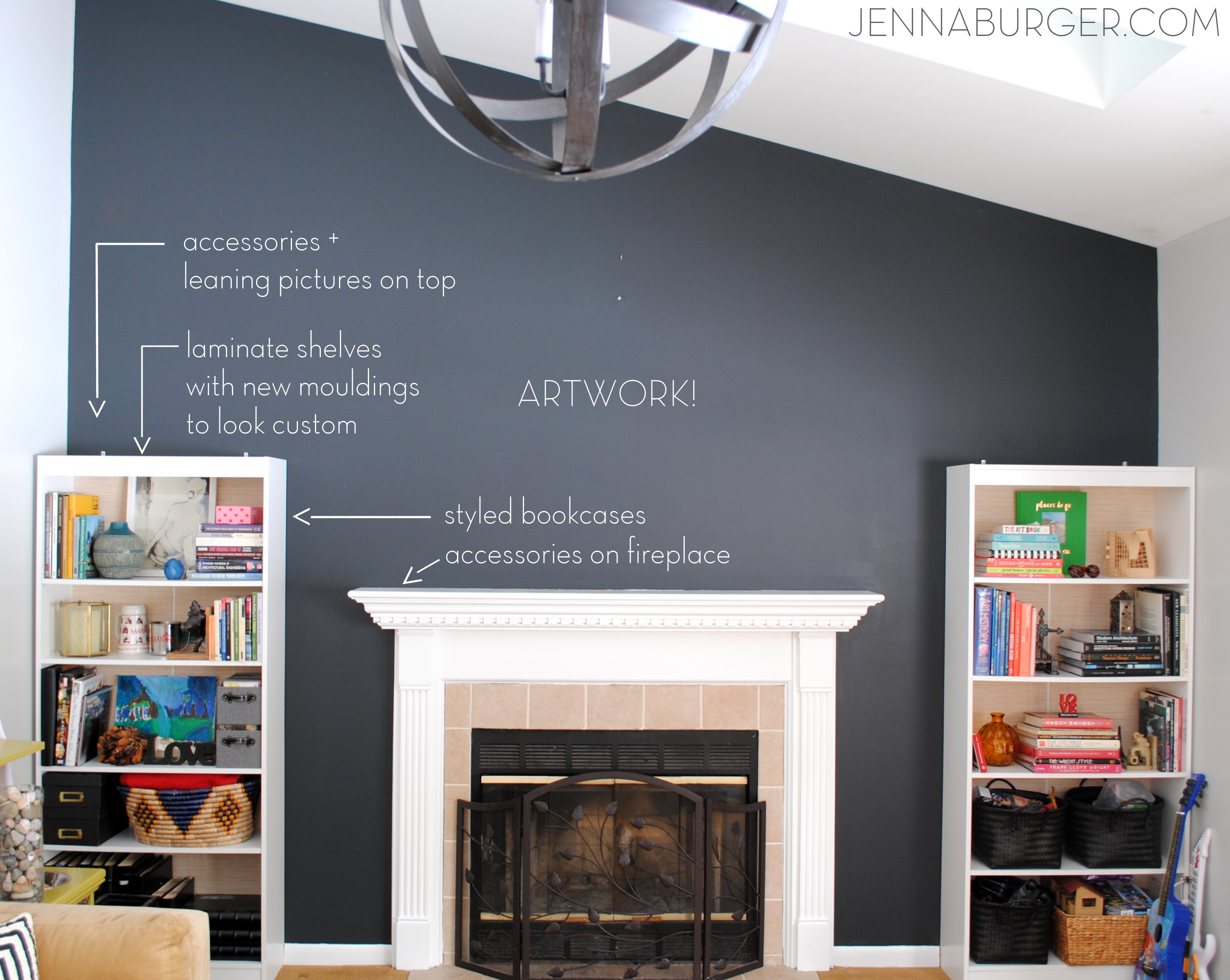 top paint colors for black walls + painting a black wall in the