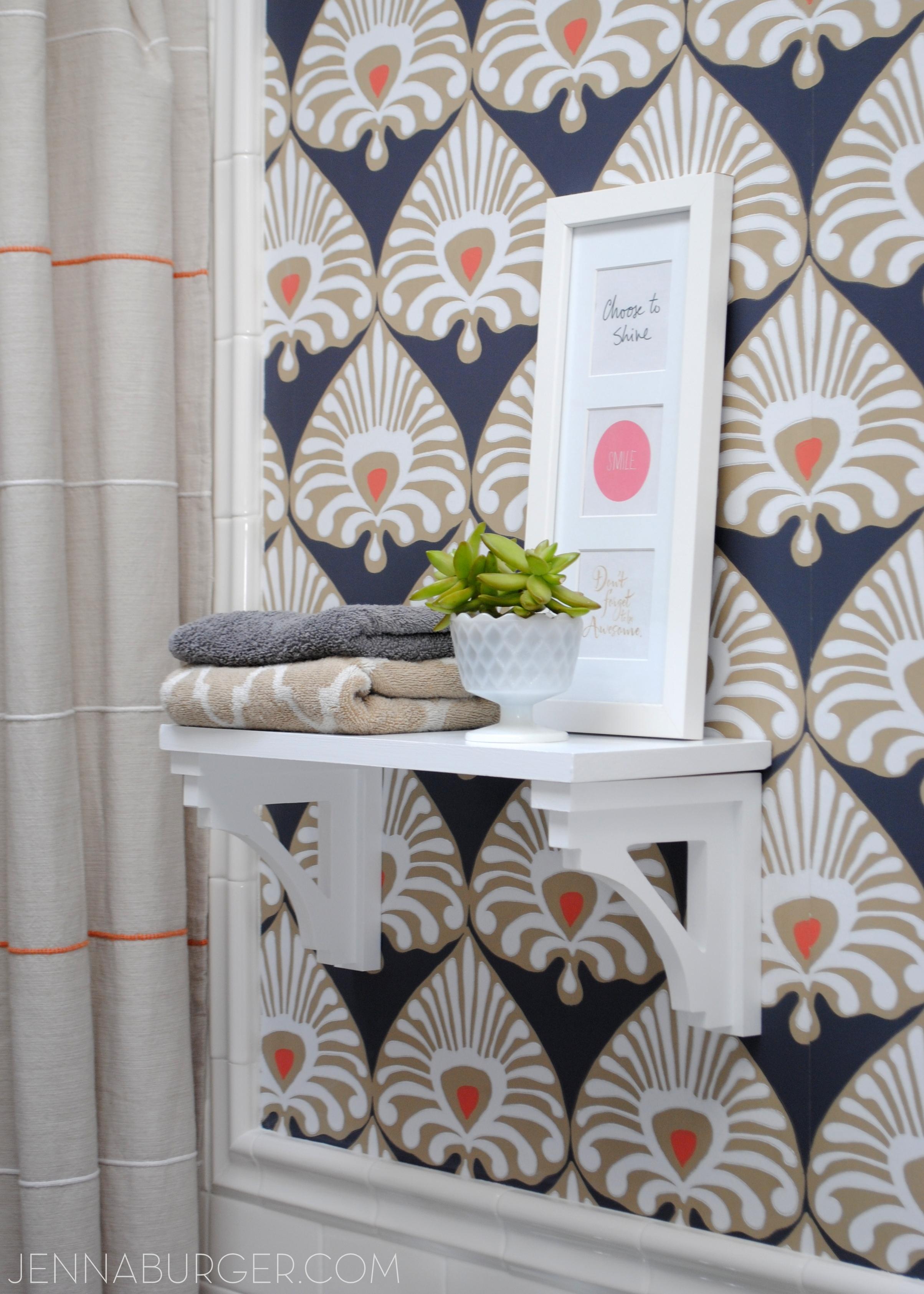 DIY Simple Wood Shelf with Decorative Brackets Jenna Burger