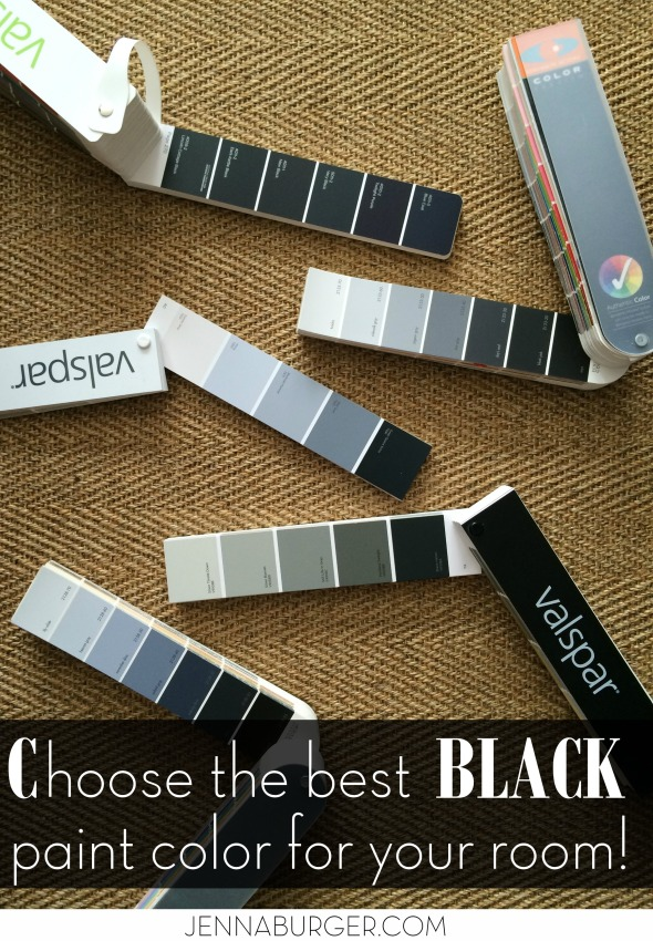 Tips for choosing the BEST BLACK paint color for your room!