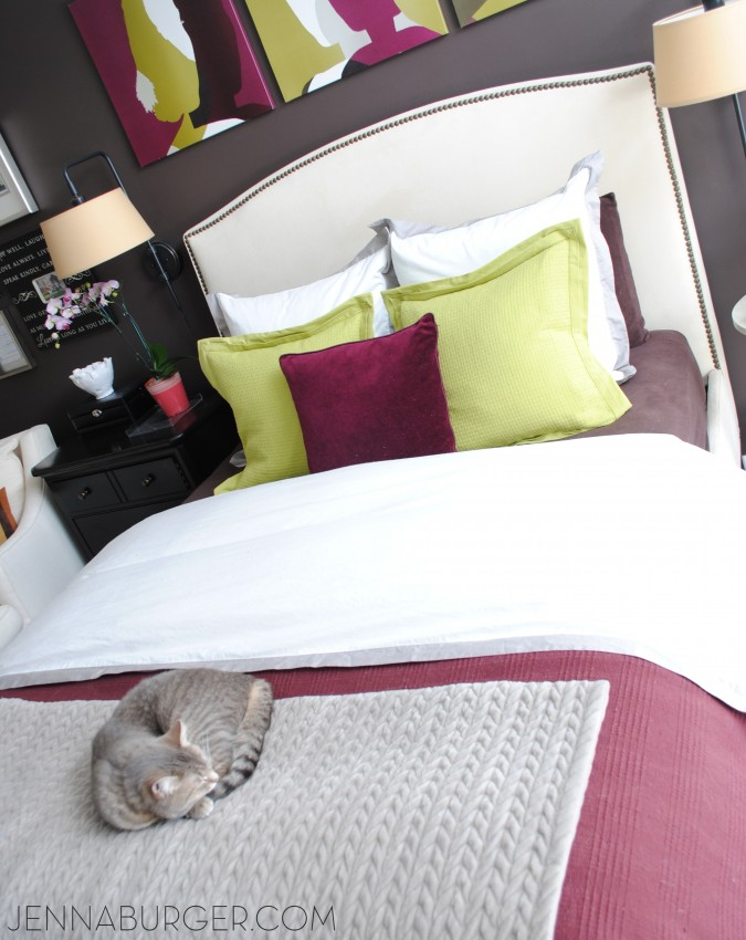 Make the bed - one of many Tips + Tricks + Secrets to make a house feel instantly clean (and showroom ready)! It only takes a few minutes a day...