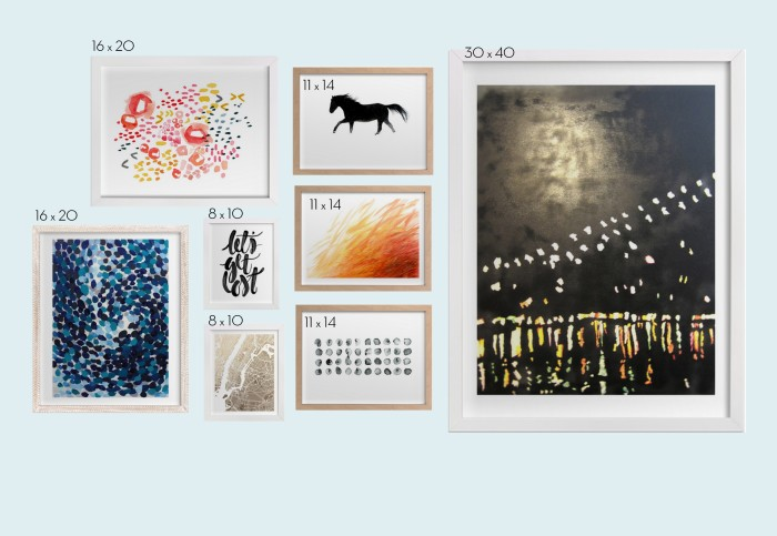 ideas & tips for Planning + Creating an Art Wall in your home