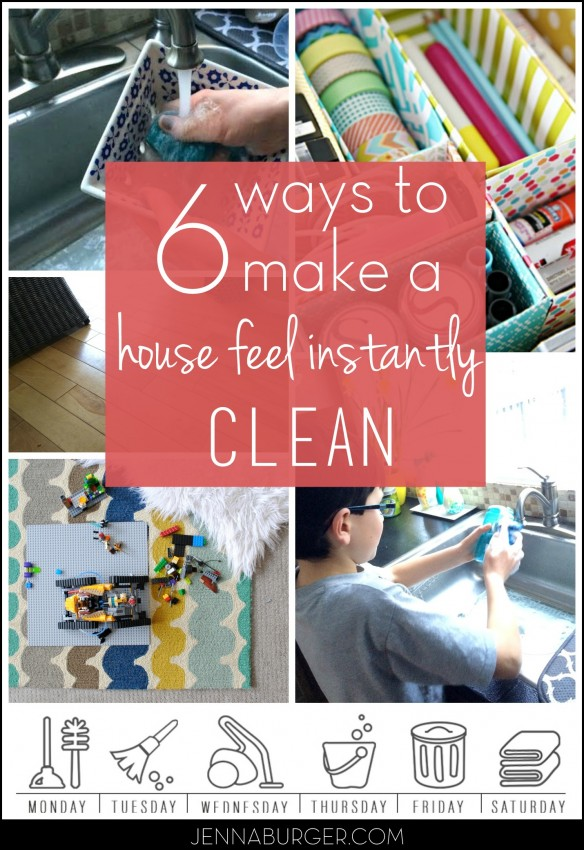 Tips + Tricks + Secrets to make a house feel instantly clean (and showroom ready)!  It only takes a few minutes a day...