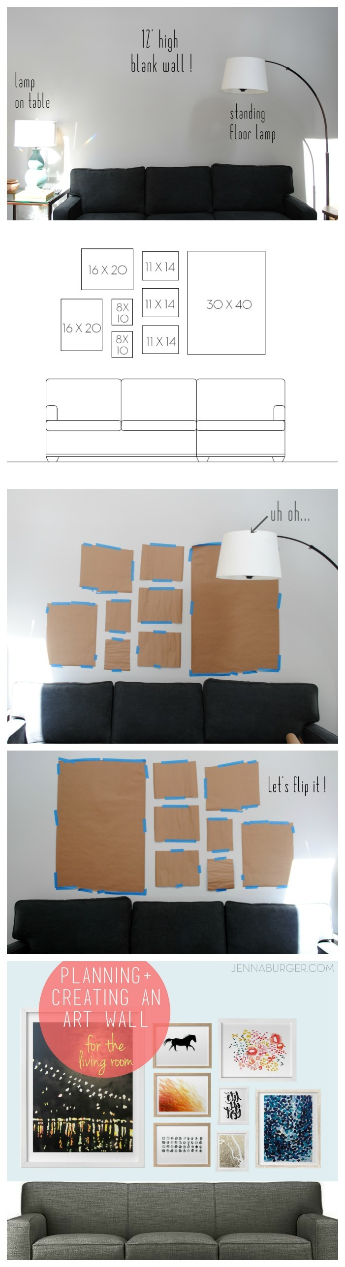 IDEAS + TIPS for Planning & Creating an Art Wall in your home.