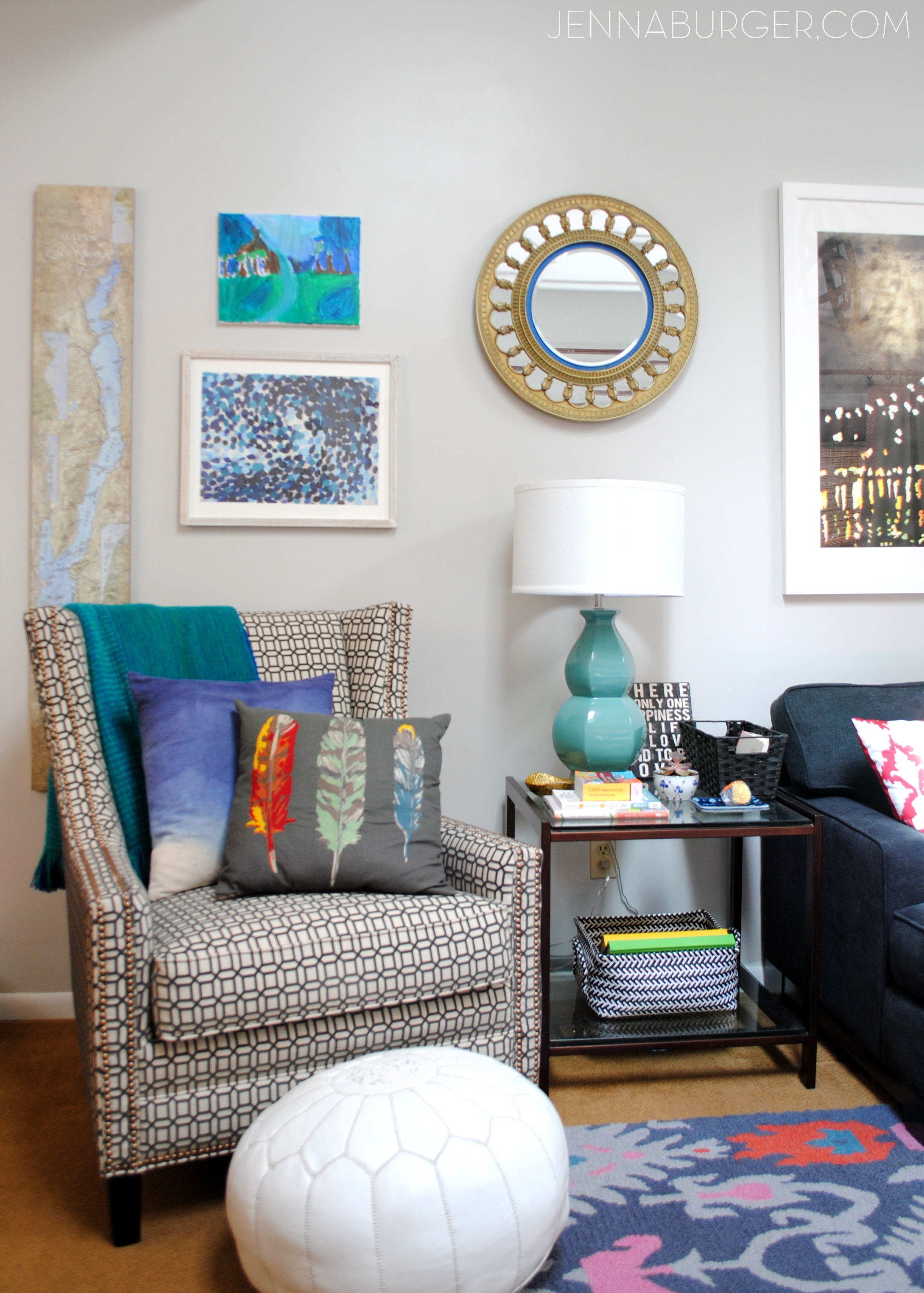 Living Room Makeover Reveal Jenna Burger