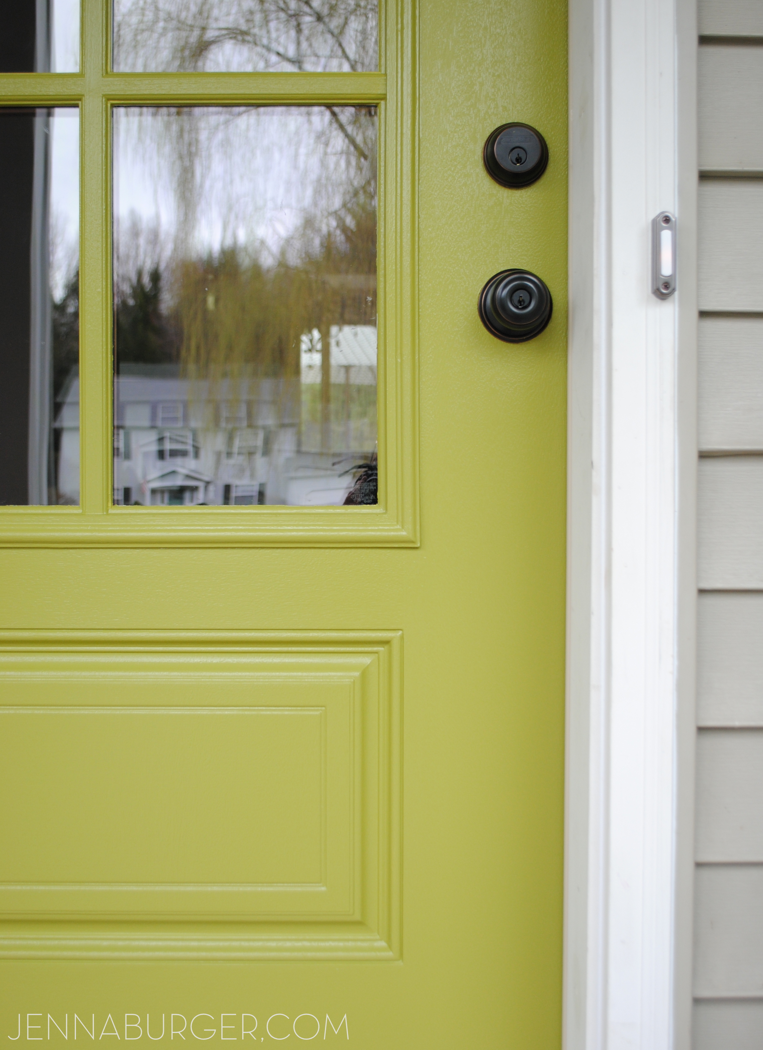 Front door new style new color jenna burger for Front door paint colors