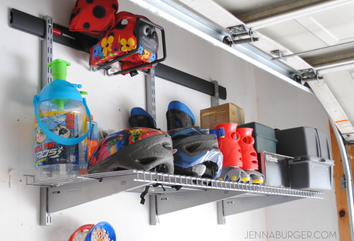 Getting organized in the GARAGE using Rubbermaid Fast Track Garage Organizational system