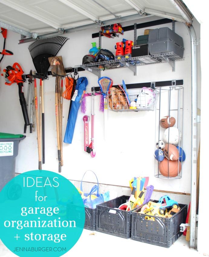 Getting organized in the GARAGE: tips + ideas for garage organization & storage by Jenna Burger Design, www.jennaburger.com