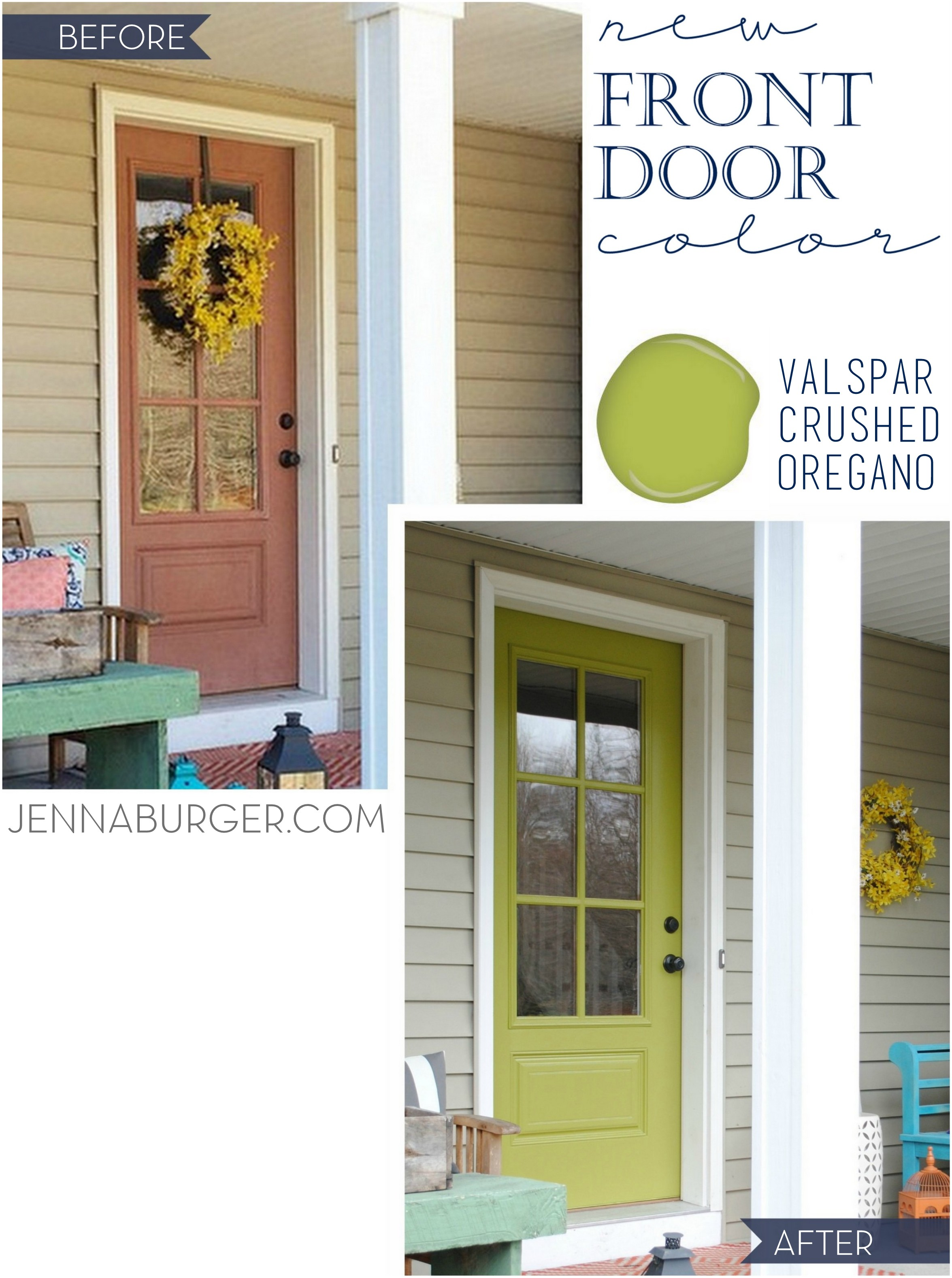 Front door new style new color jenna burger for Front door paint colours