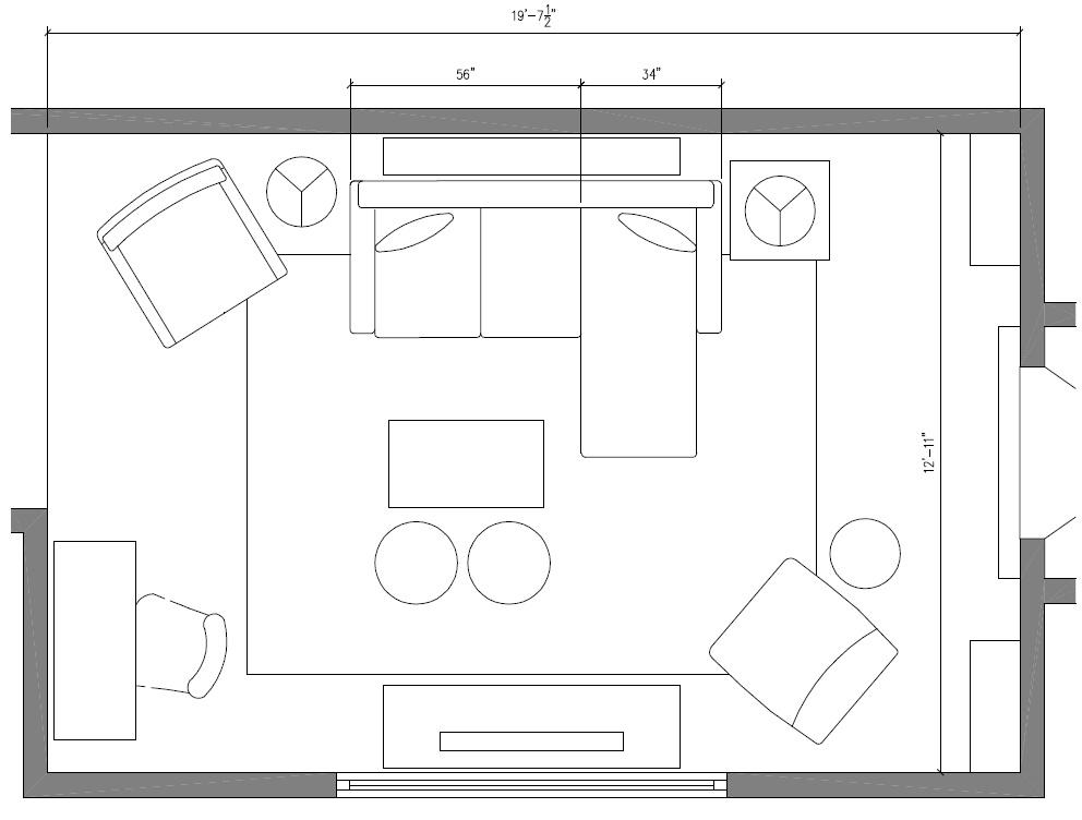 Family Room Floor Plans: Living Room Makeover {Reveal}