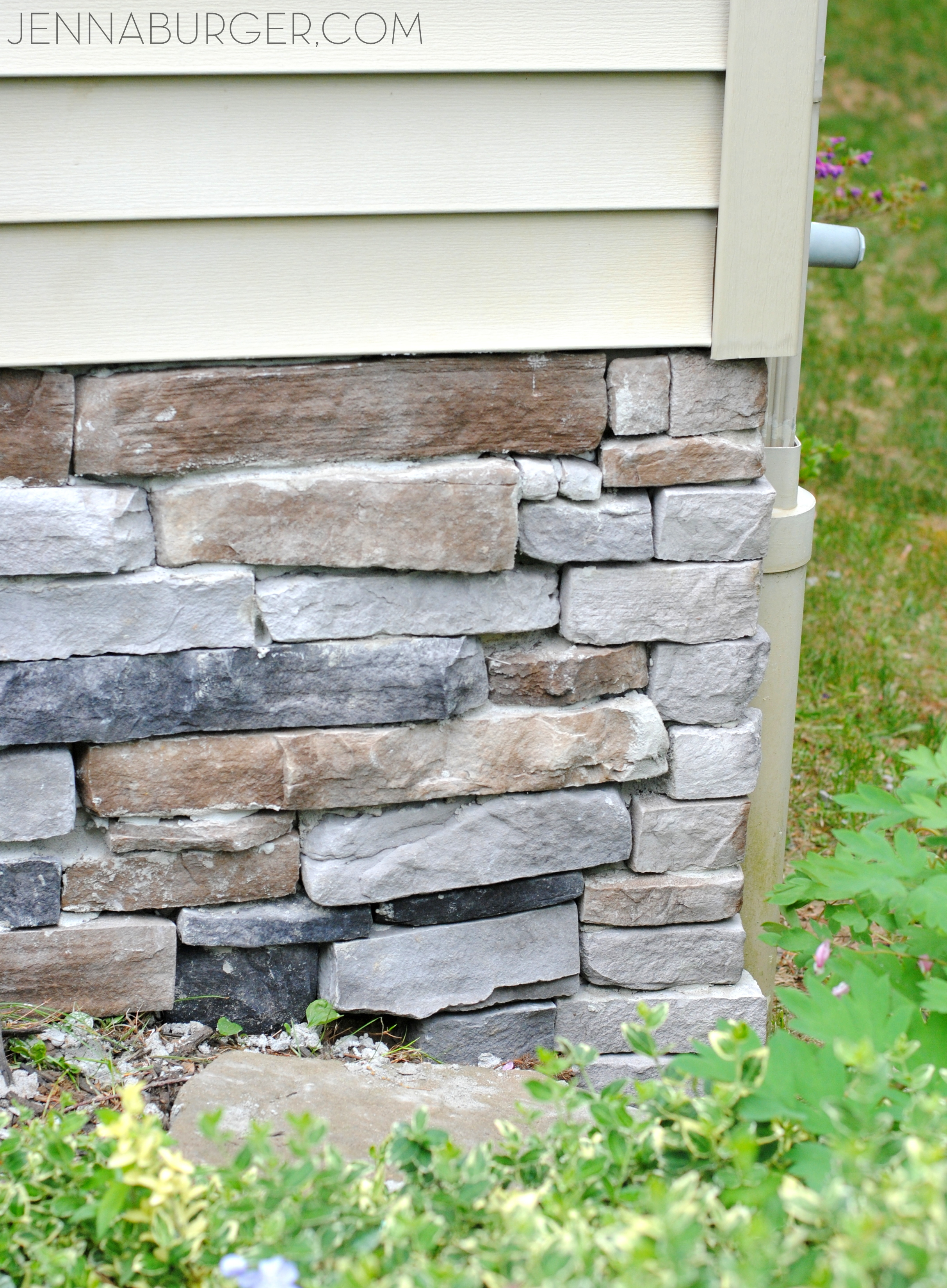 adding stone veneer to a concrete foundation wall jenna burger