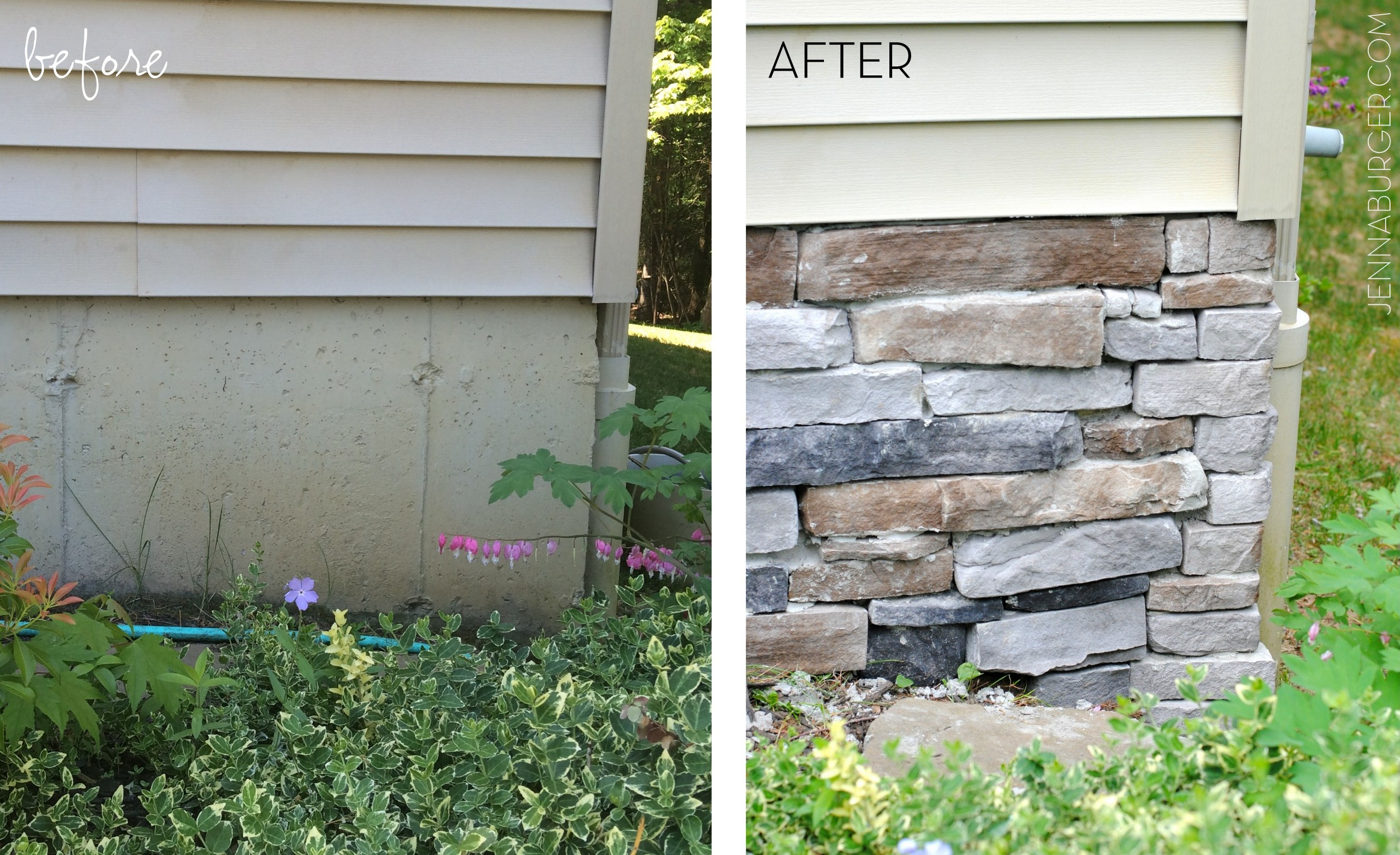 Adding Stone Veneer To A Concrete Foundation Wall Jenna
