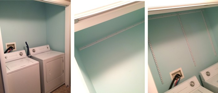 The process of cleaning & prepping for the laundry room revamp