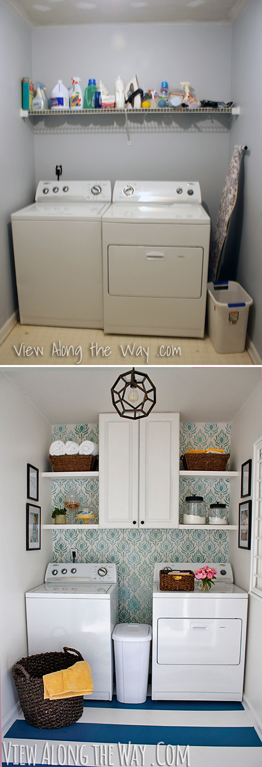 5 ways to revamp a laundry room on a budget - jenna burger a Laundry Room