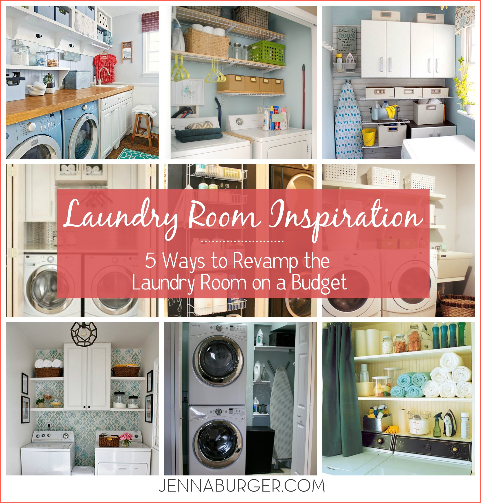 Laundry Room Inspiration 5 Ways To REVAMP A Laundry Room On A BUDGET