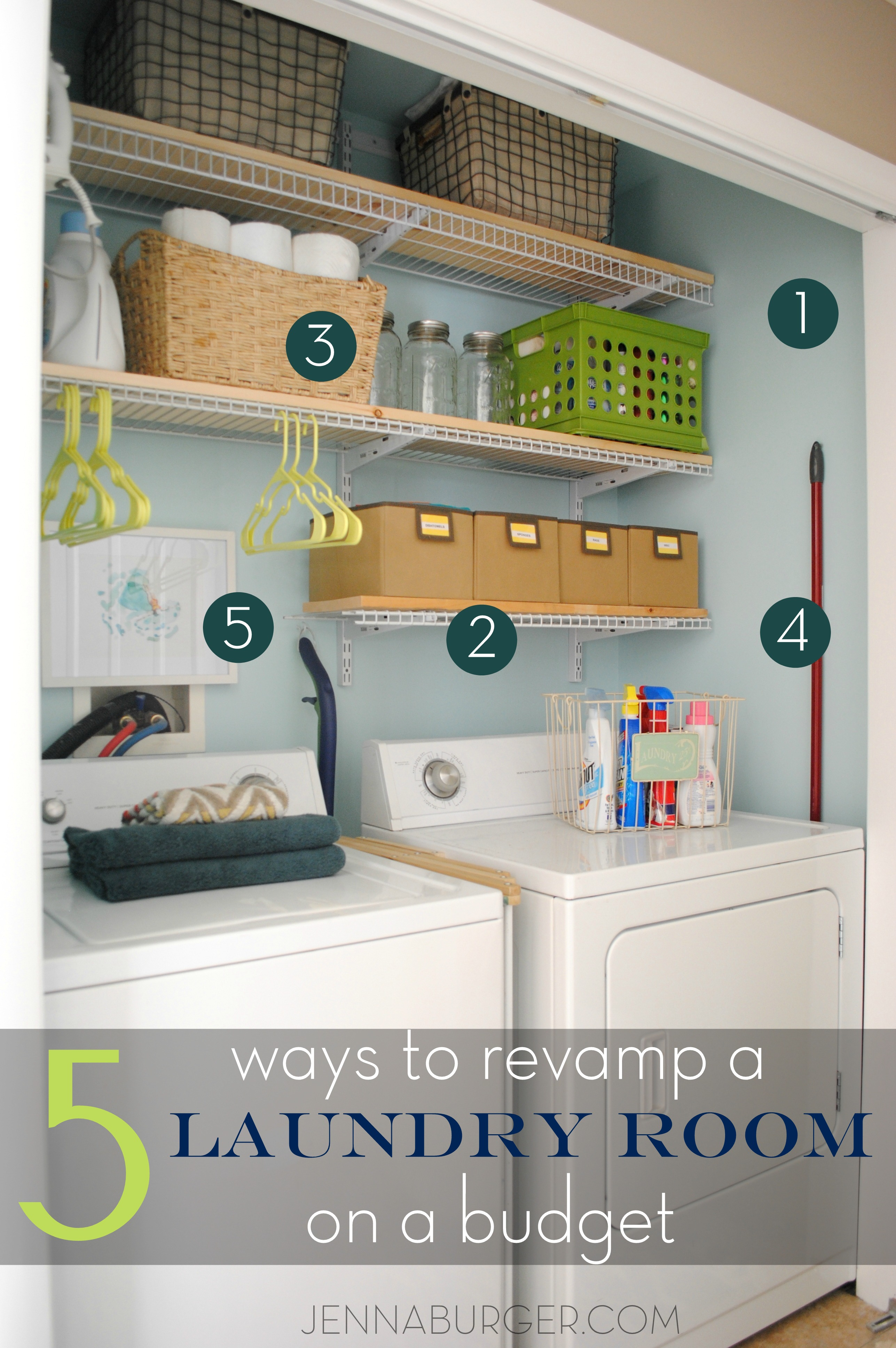 5 Ways Tips For Revamping A Laundry Room On A Budget See How I
