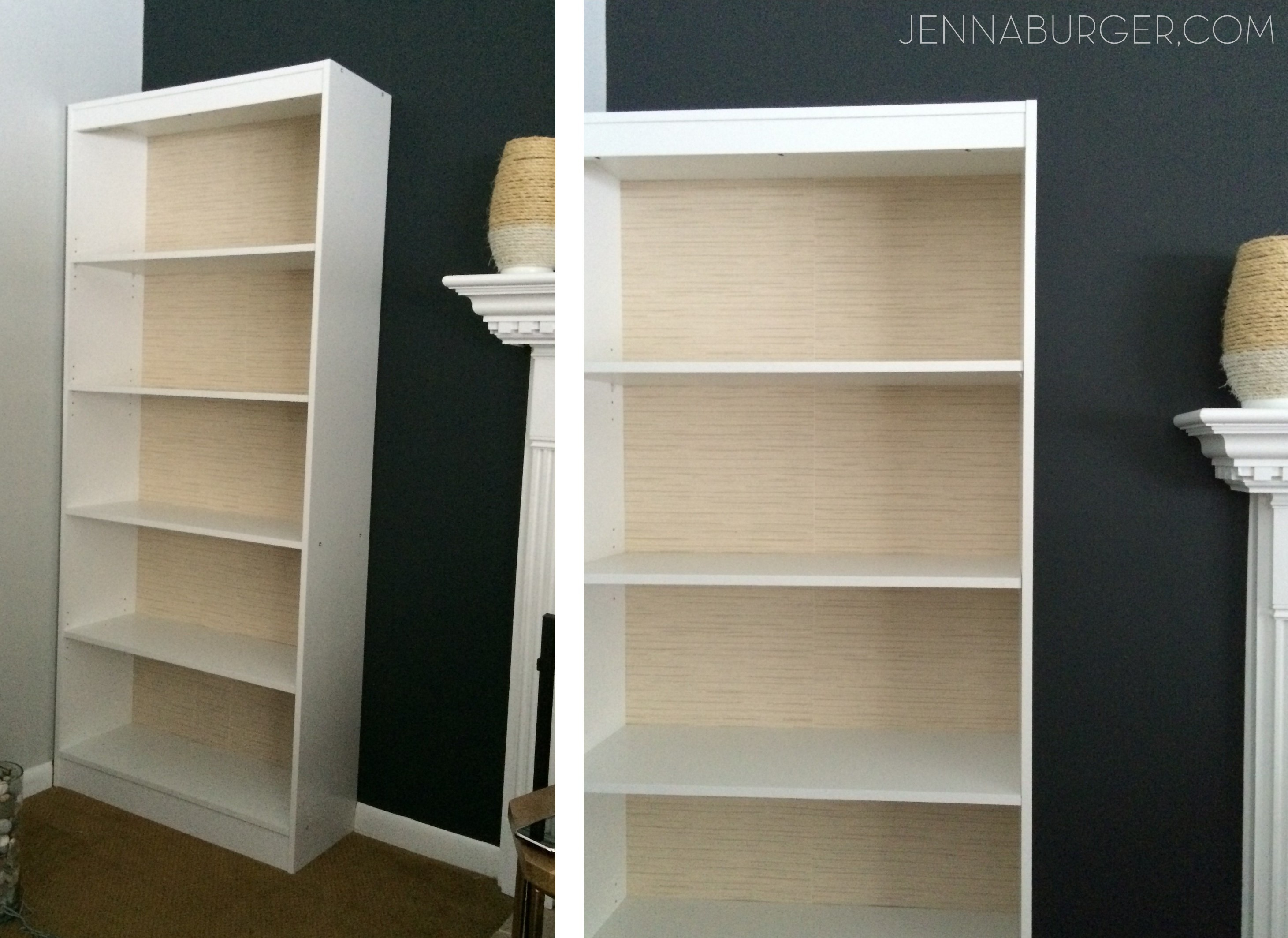 How To Make a Laminate Bookcase Look Like a Built In Bookshelf