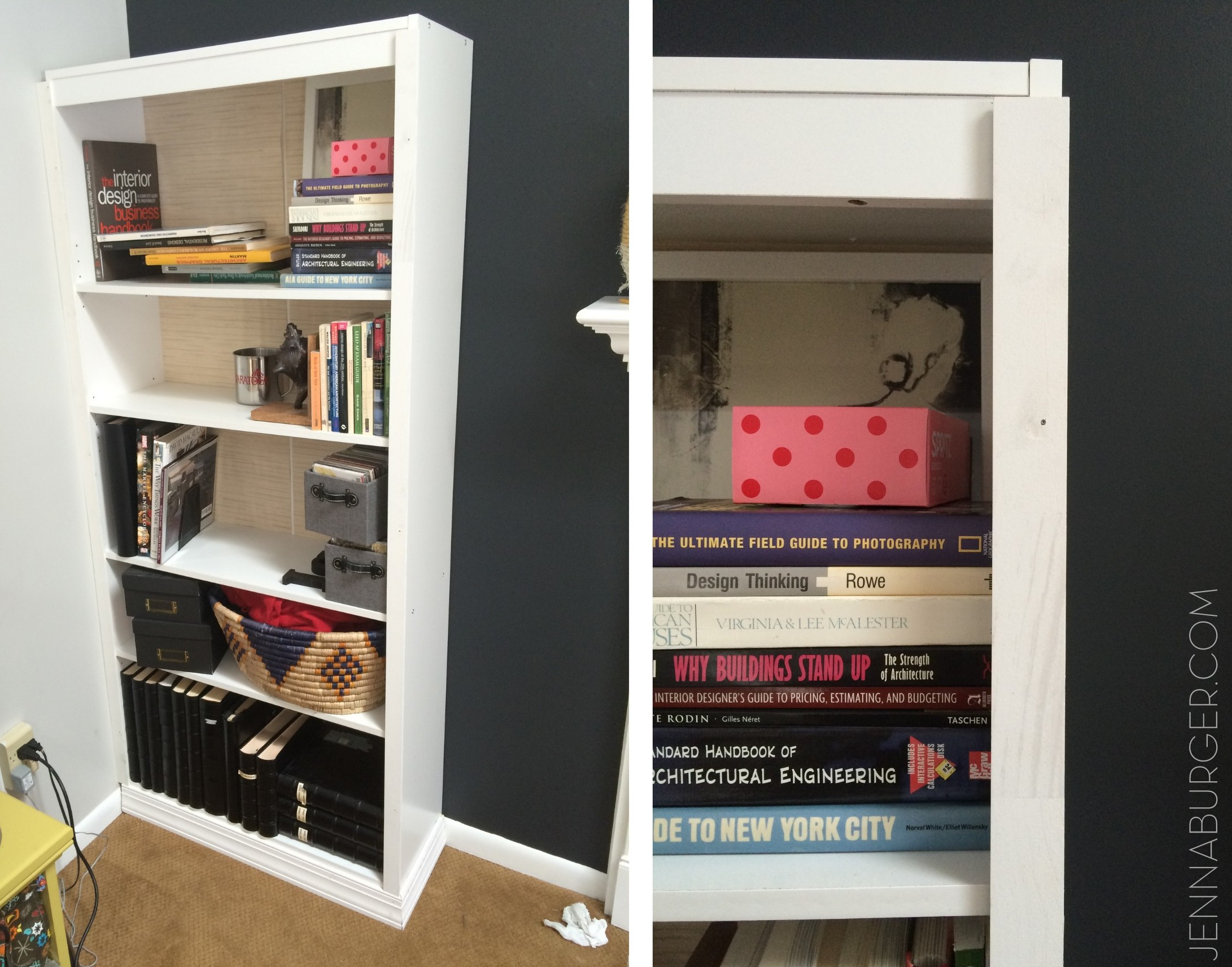 For Bookcases In Living Rooms How To Make A Laminate Bookcase Look Like A Built In Bookshelf