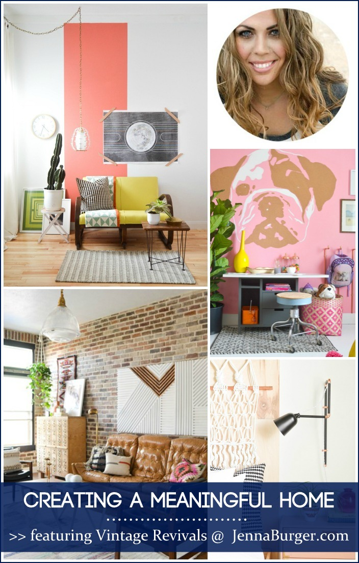 CREATING A MEANINGFUL HOME blog series featuring Bloggers sharing the story of their home: FEATURED is Mandi of Vintage Revivals - a MUST READ story!
