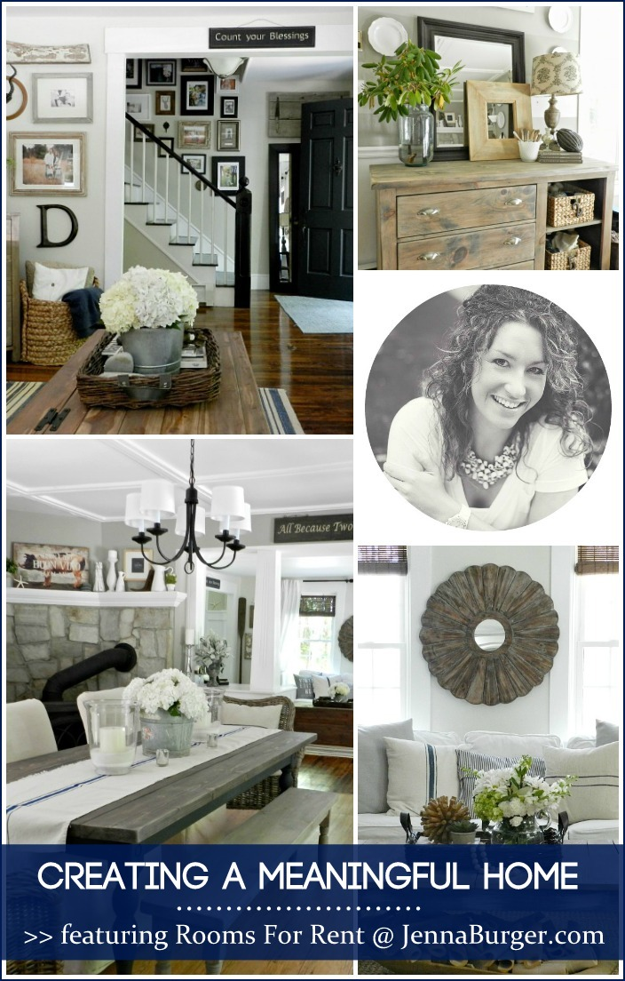 CREATING A MEANINGFUL HOME blog series featuring Bloggers sharing the story of their home: FEATURED is Bre of Rooms For Rent - so inspiring & fresh design... a MUST READ story!