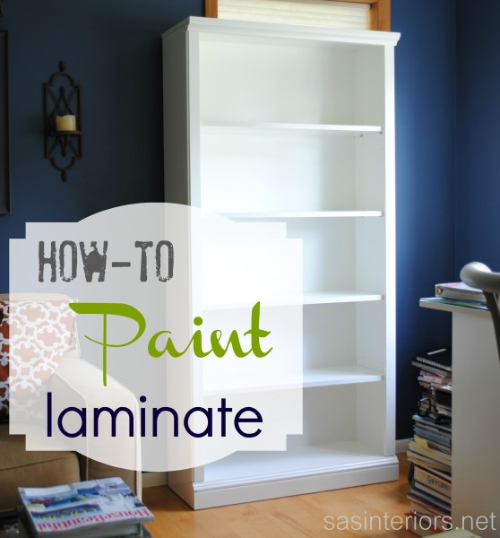 How-To Paint laminate furniture: tutorial with step by step instructions on painting laminate material