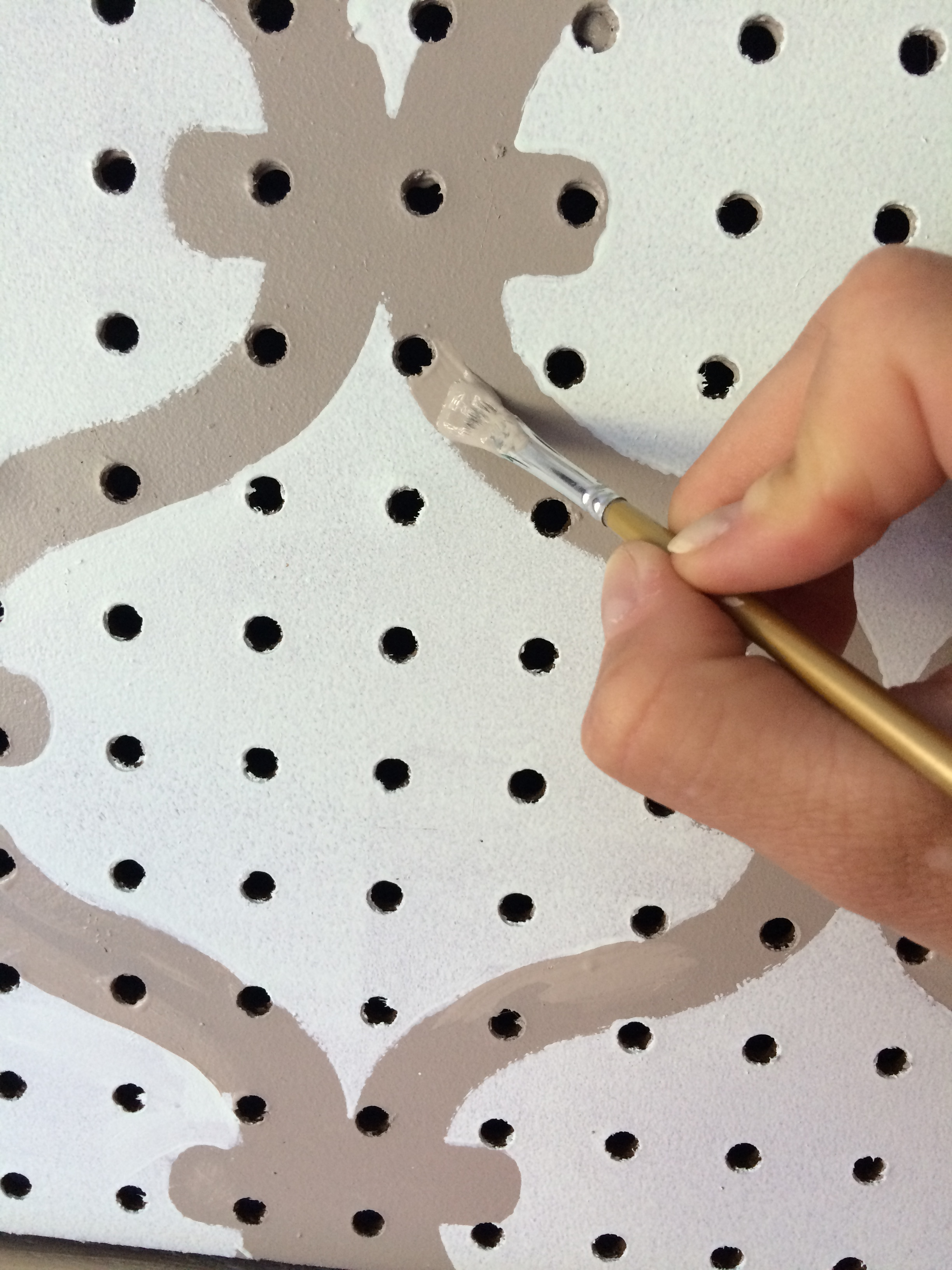 How To Paint Pegboard Build A Pegboard Frame Jenna Burger