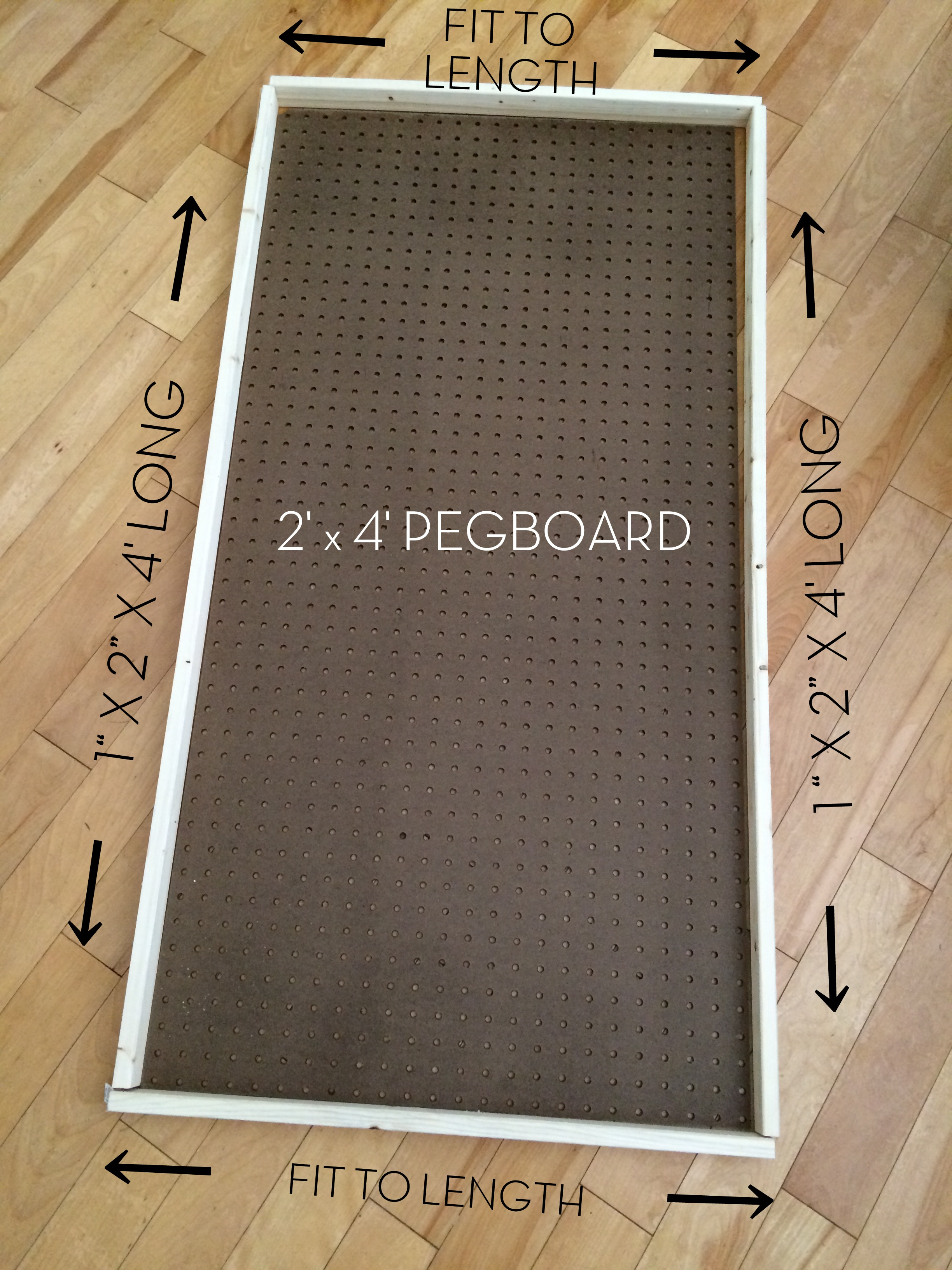 diy how to paint pegboard build and install a frame surround pegboard