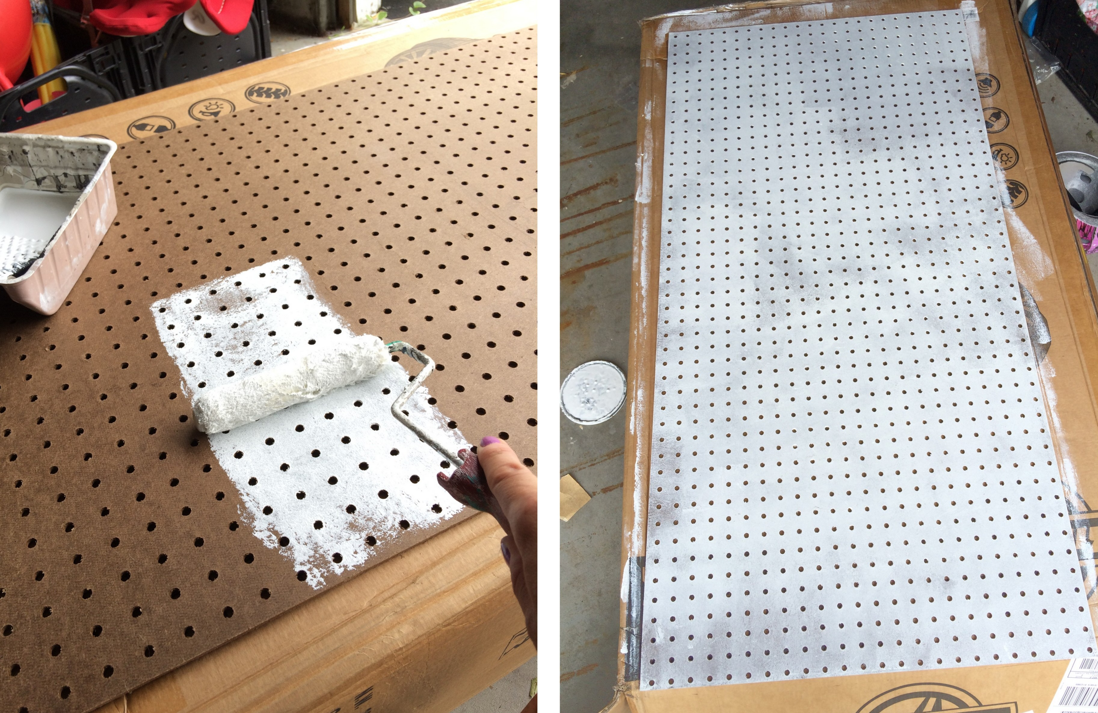 How To Paint Pegboard + Build a Pegboard Frame - Jenna Burger
