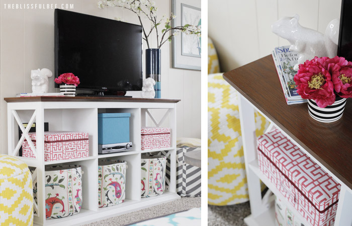 Chic + Soft den makeover by Amy @ The Blissful Bee