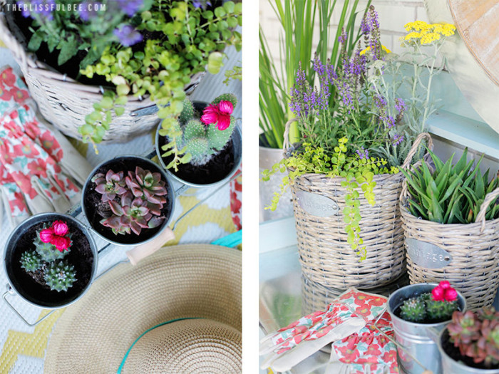 Back porch makeover by Amy @ The Blissful Bee