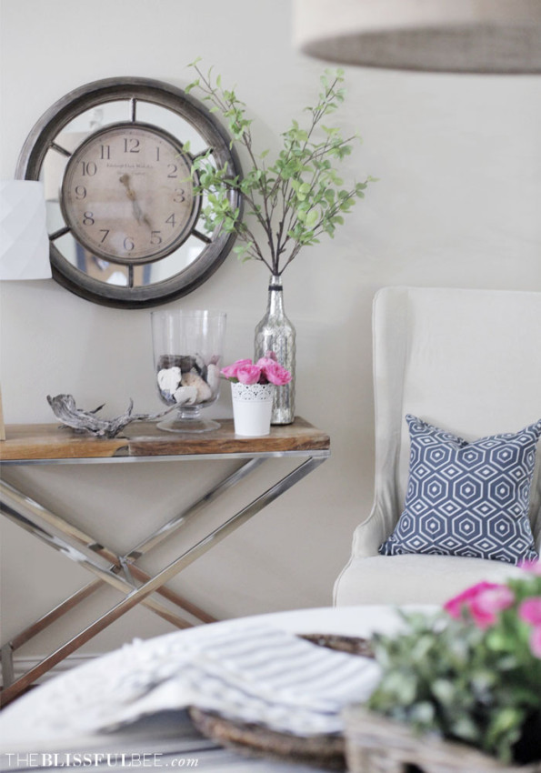 Chic + Soft office makeover by Amy @ The Blissful Bee