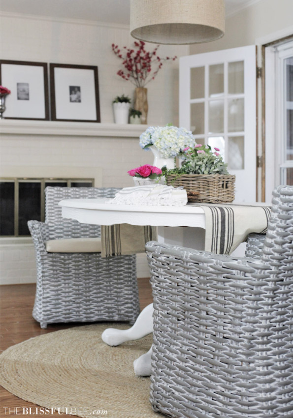 Chic + Soft dining room + kitchen by Amy @ The Blissful Bee