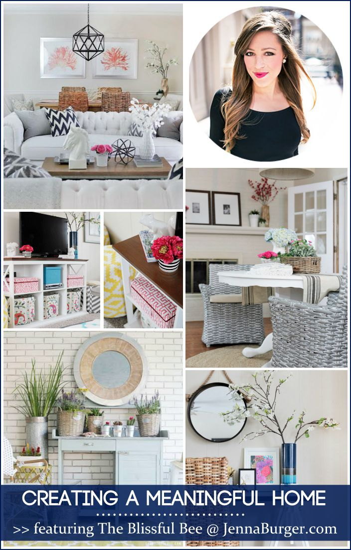 CREATING A MEANINGFUL HOME blog series featuring Bloggers sharing the story of their home: FEATURED is Amy of The Blissful Bee - a MUST READ story!