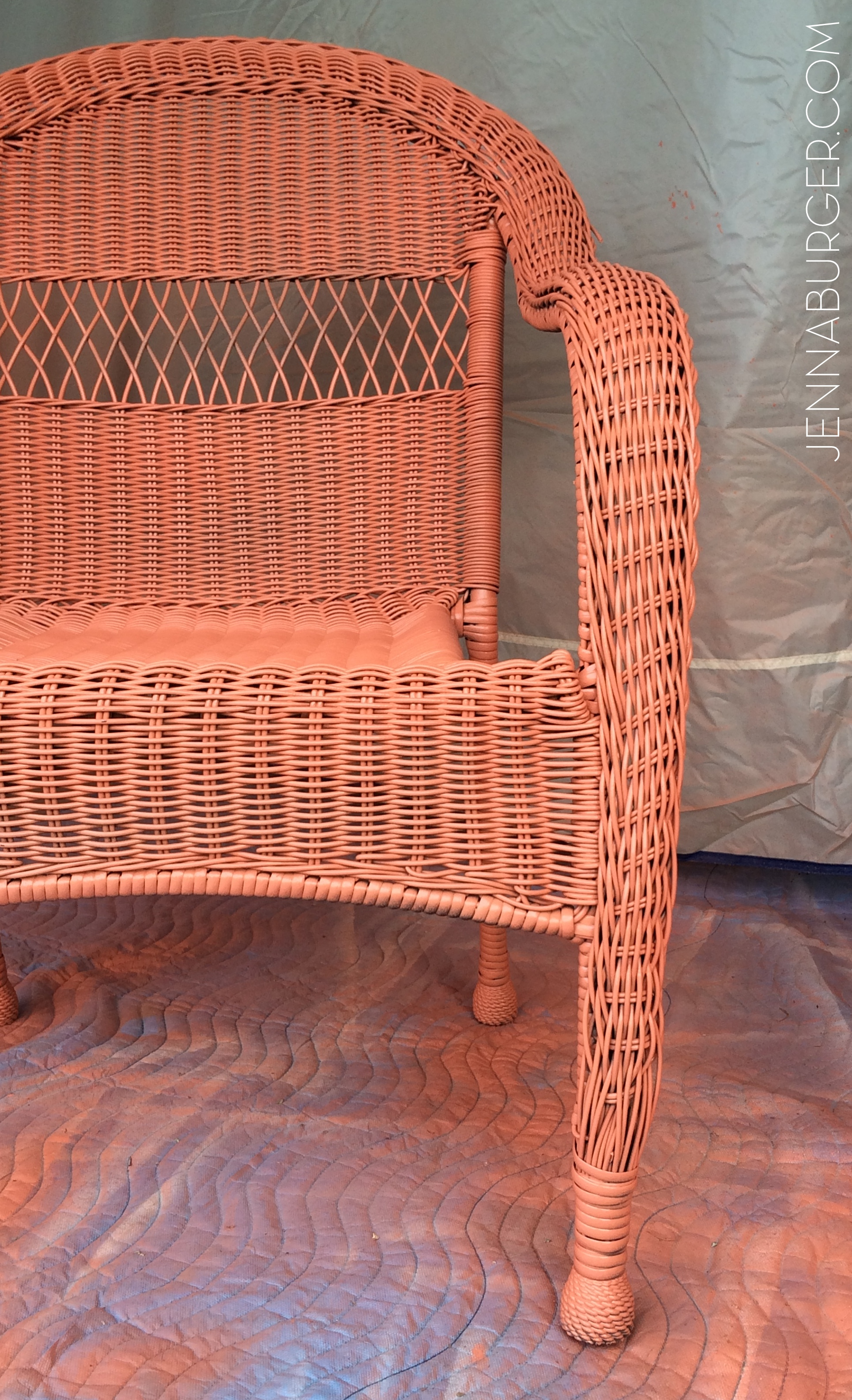 DIY Tutorial For Painting Wicker Using The HomeRight Finish Max Hand  Sprayer. I Painted 2