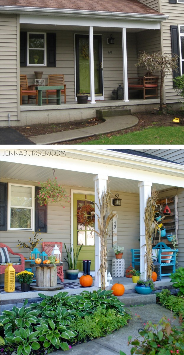 Before & After front porch