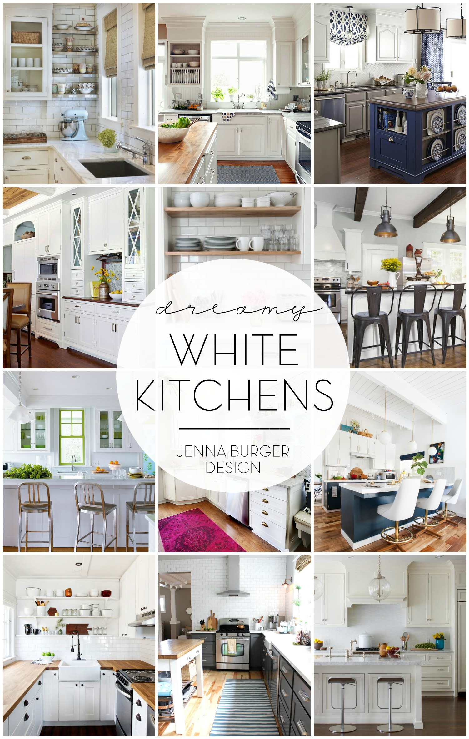 Wonderful White Kitchens - Jenna Burger