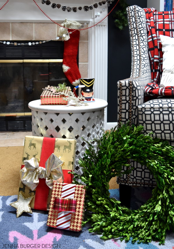 Christmas Mantel filled with old & new. Created by www.jennaburger.com
