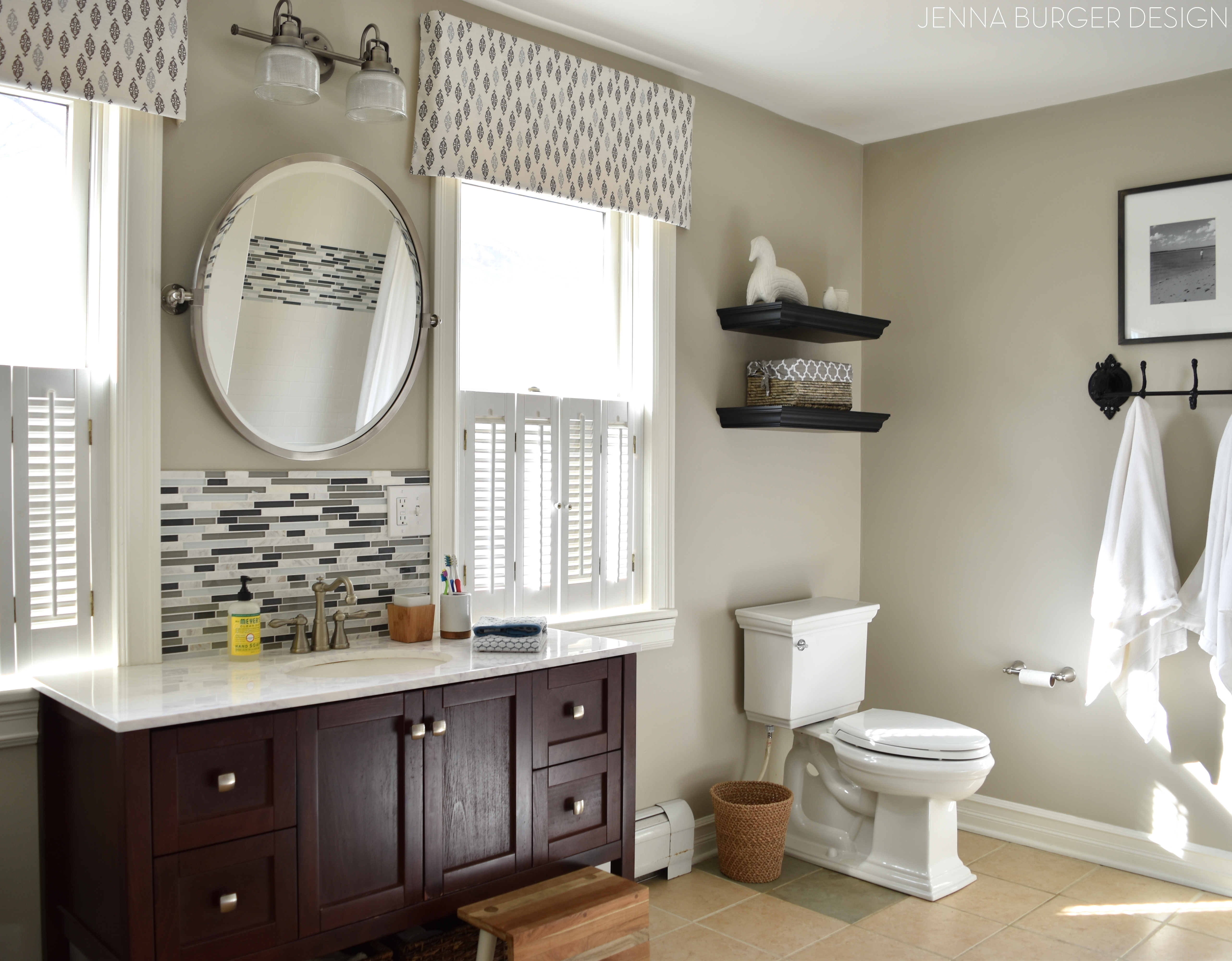Budget BATHROOM RENOVATION Reveal: Before + After Of This Cool Toned  Cottage Style Bathroom