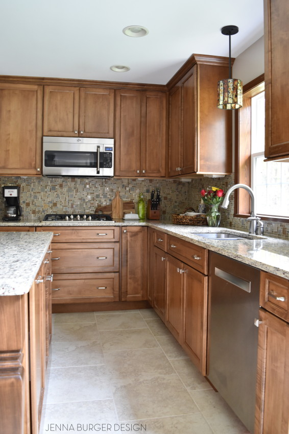 Stunning Stained Kitchen REVEAL: before & after of a kitchen renovation by www.jennaburger.com