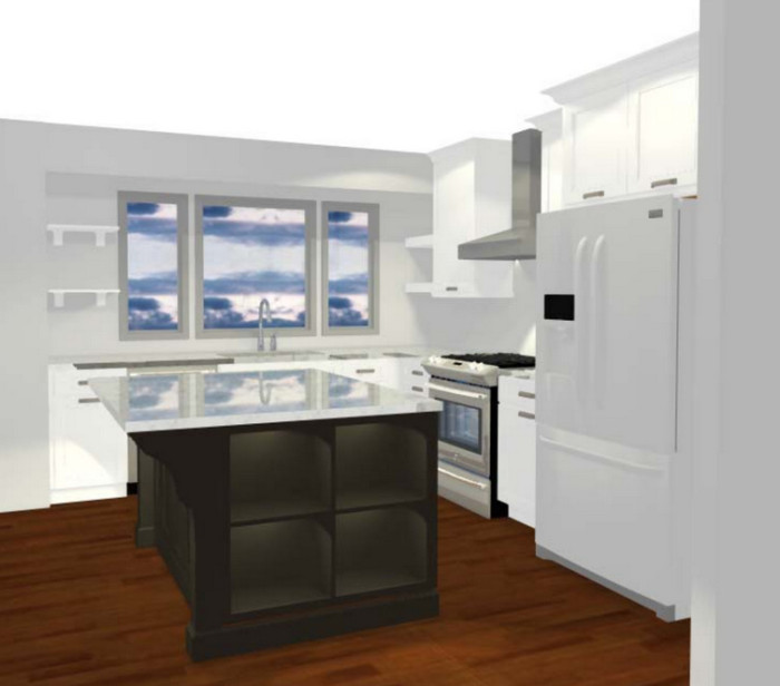 3D Image of Proposed Kitchen