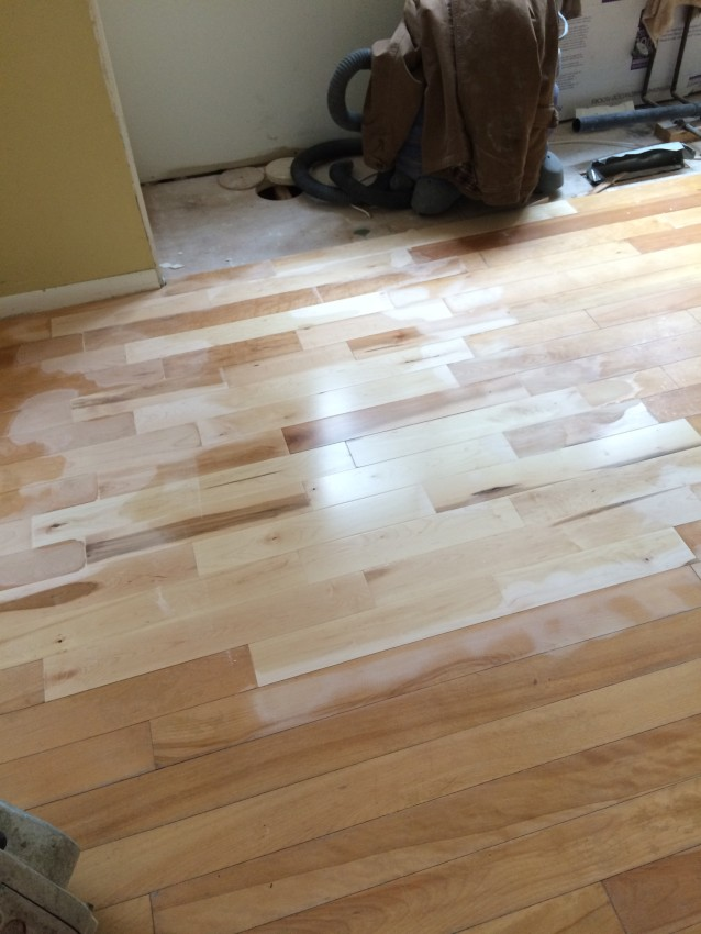 repair kitchen floor kitchen progress staining hardwood floors burger 1864
