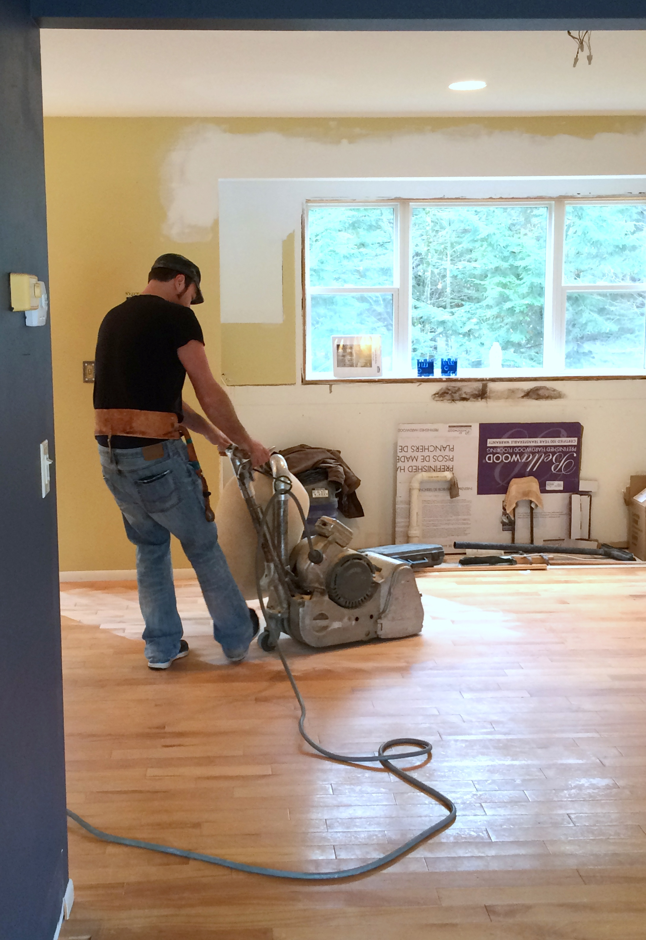 Wood Floors In A Kitchen Kitchen Progress Staining Hardwood Floors Jenna Burger