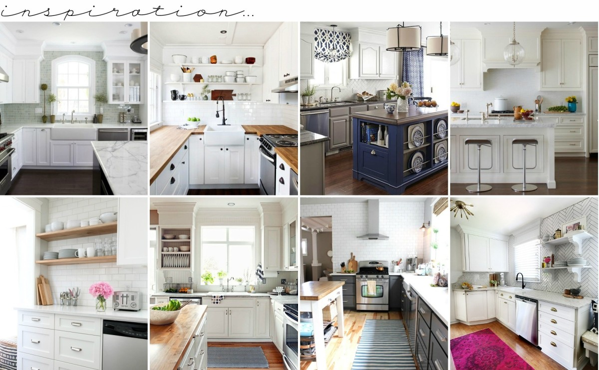 Wonderful White Kitchens + How To Decorate them so they're anything but VANILLA! White Kitchen Round-up @ www.jennaburger.com