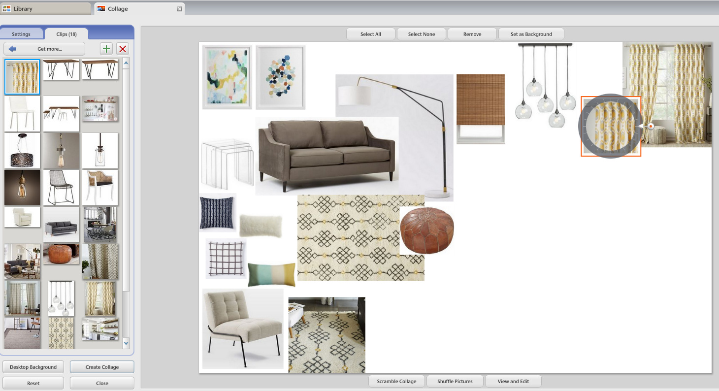 Interior design mood board creator for Blue print creator