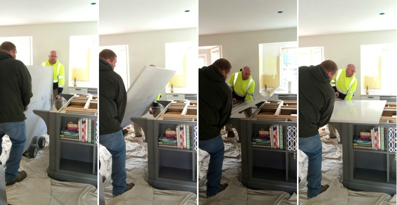 Installation of Quartz Countertops