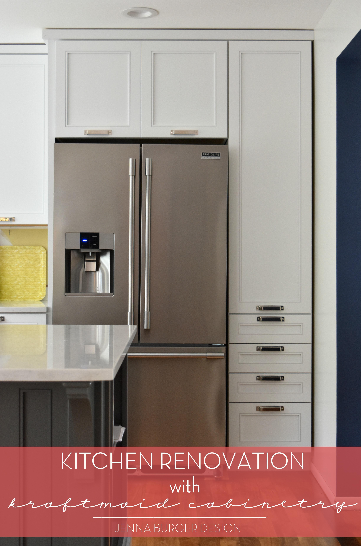 Kitchen Renovation Cabinet Installation Using Kraftmaid Before After Jennaburger